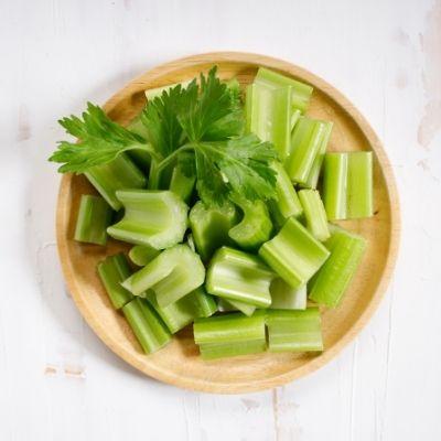 Celery leaves and stalks