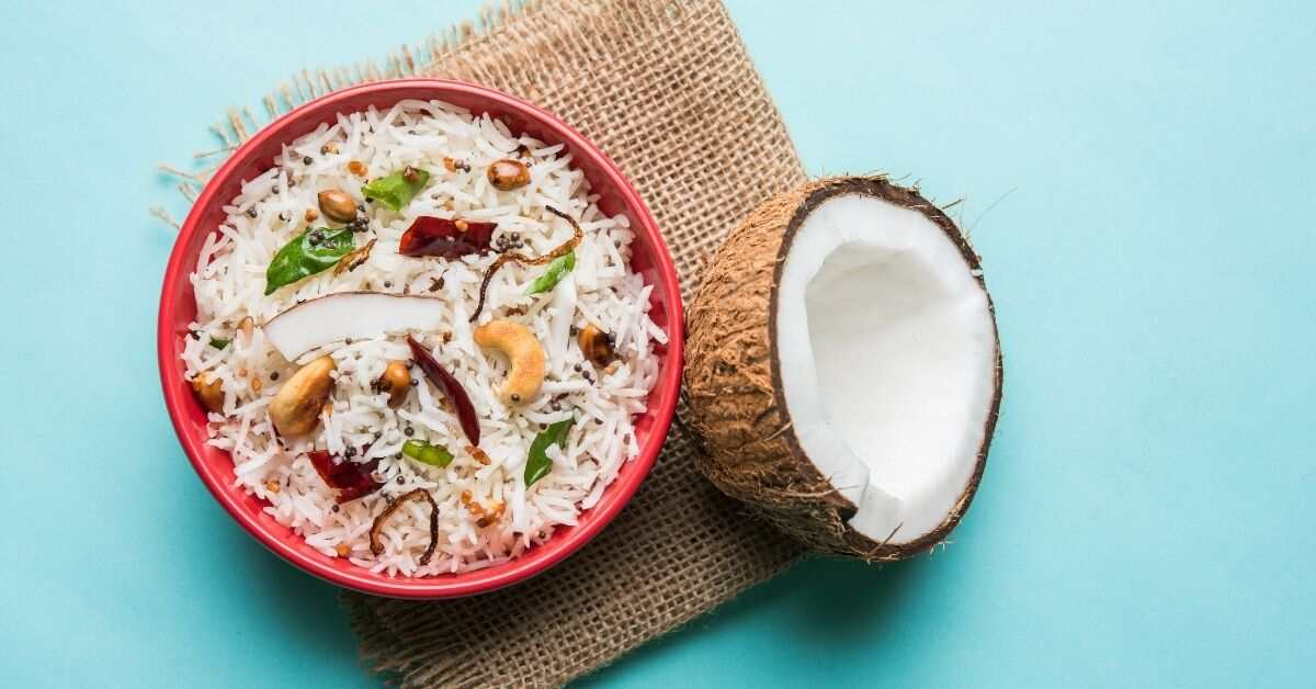 Coconut Rice Recipe in Rice Cooker