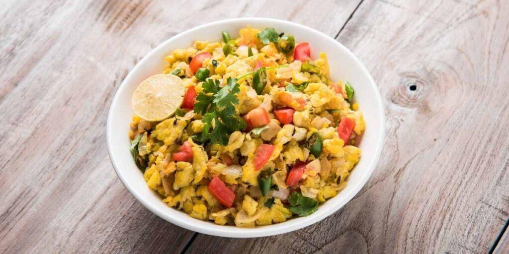 Egg & Crab Meat Bhurji