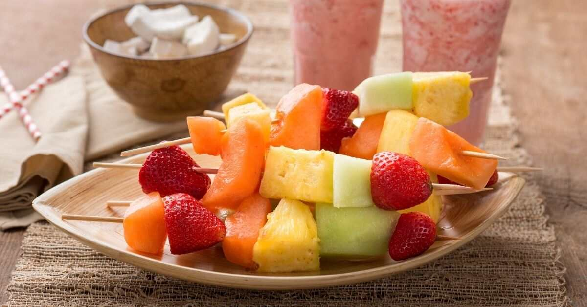 Fruit kabobs for kids