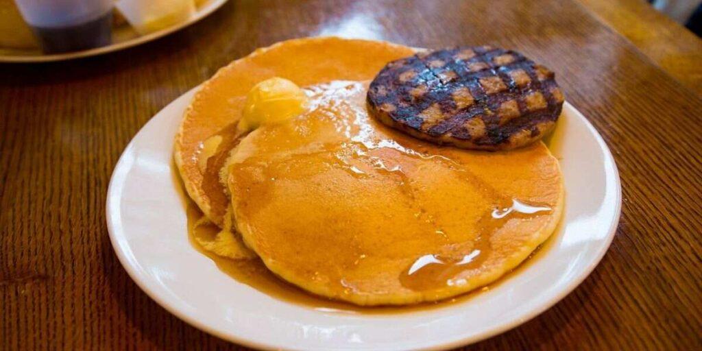 Pancakes & Sausage Breakfast Sandwich