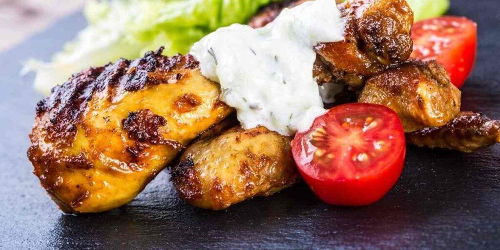 Grilled Chicken Legs with Yogurt