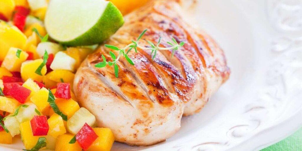 Grilled Chicken with Plum Salsa